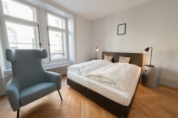Luzern Schlafzimmer Serviced Apartment