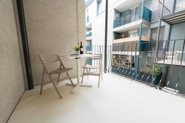 Luzern Balkon im Möblierten Apartment