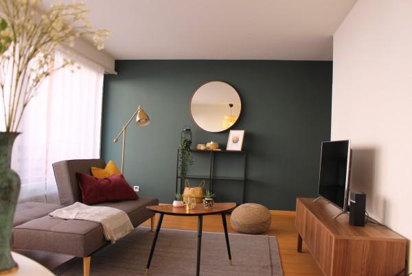 Zug Wohnzimmer Serviced Apartment