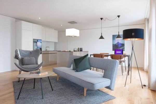 Zürich Wohnzimmer Serviced Apartment