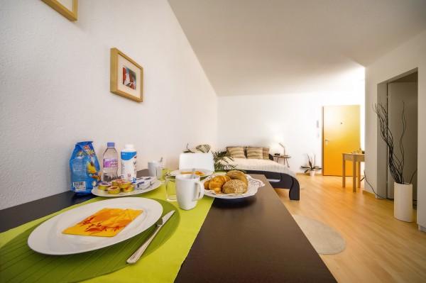 Essen im Business Apartment Luzern