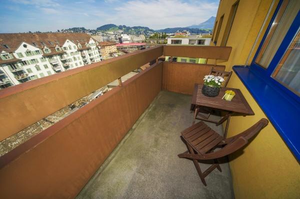 Balkon des Möblierten Apartments Luzern
