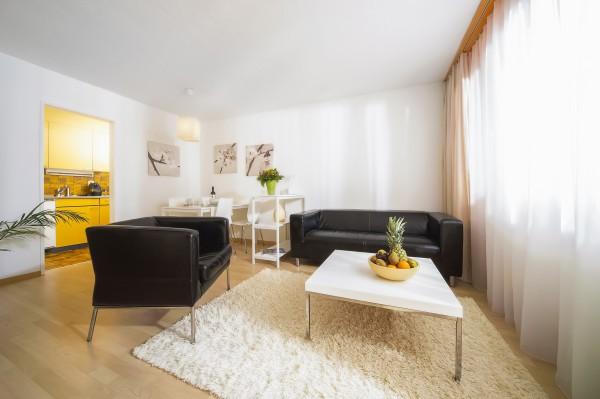 Wohnzimmer Serviced Apartment Luzern