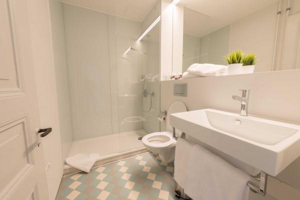 Badezimmer im Business Apartment Luzern