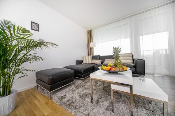 Wohnzimmer Serviced Apartment Zug