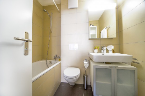 Zug Badezimmer Serviced Apartment