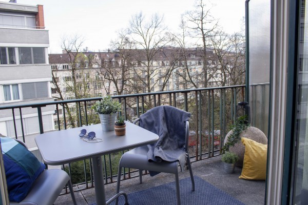 Balkon Möbliertes Apartment Luzern