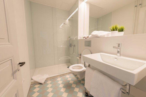 Badezimmer im Business Apartment Luzern