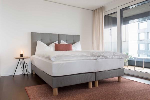 Schlafzimmer Serviced Apartment Zürich