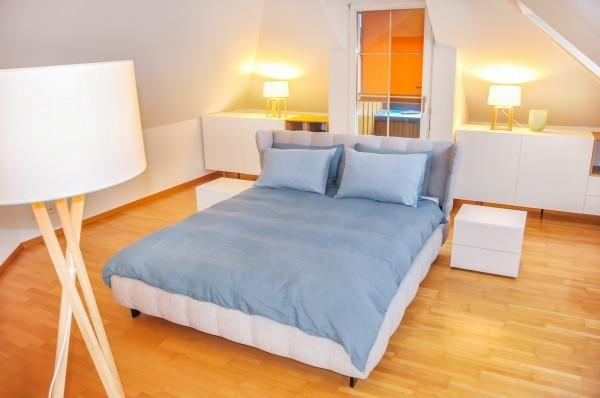 Schlafzimmer des Business Apartment Zug