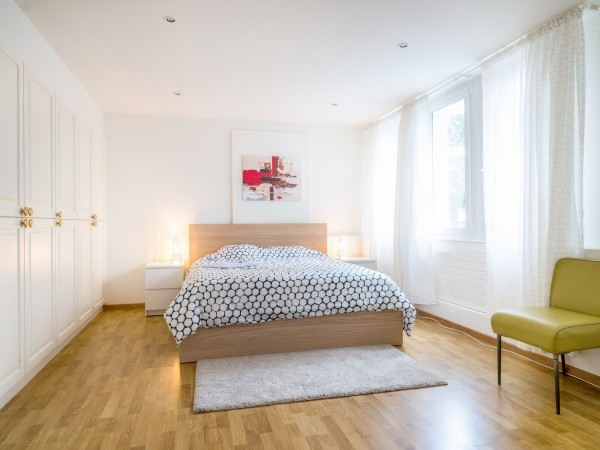Schlafzimmer Serviced Apartment Zug