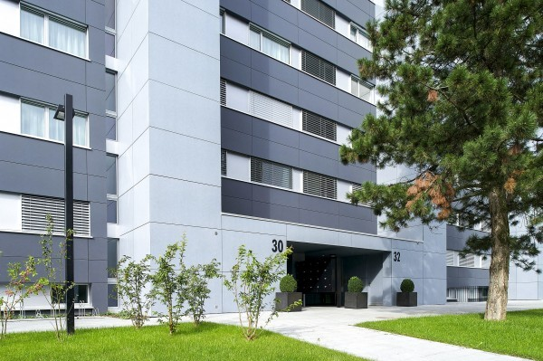 Gebäude Serviced Apartment Zug